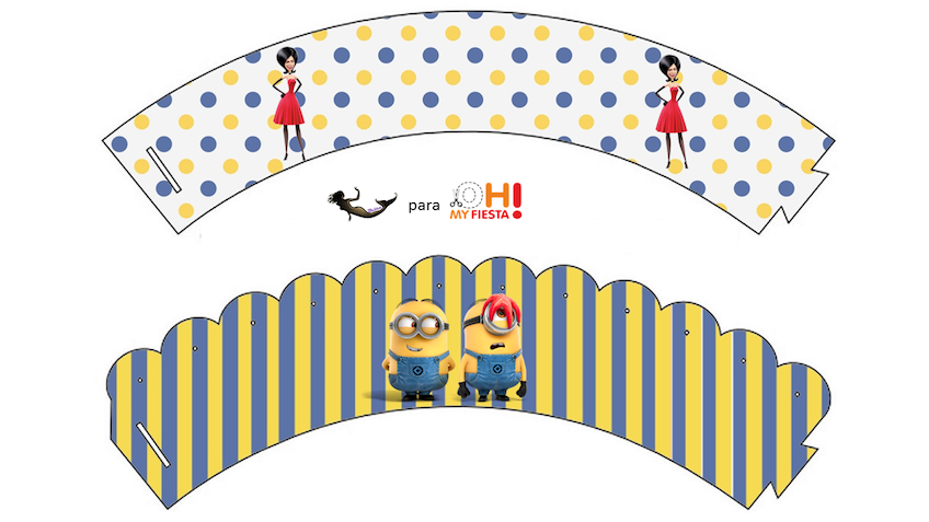 decoracion fiesta infantil minions imprimir gratis