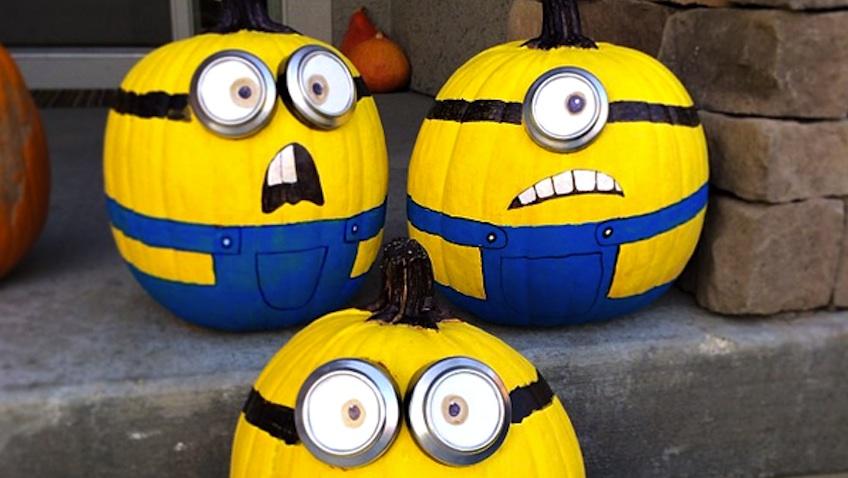 Decorar calabazas de minions para halloween - Plantillas para decorar calabazas halloween ...