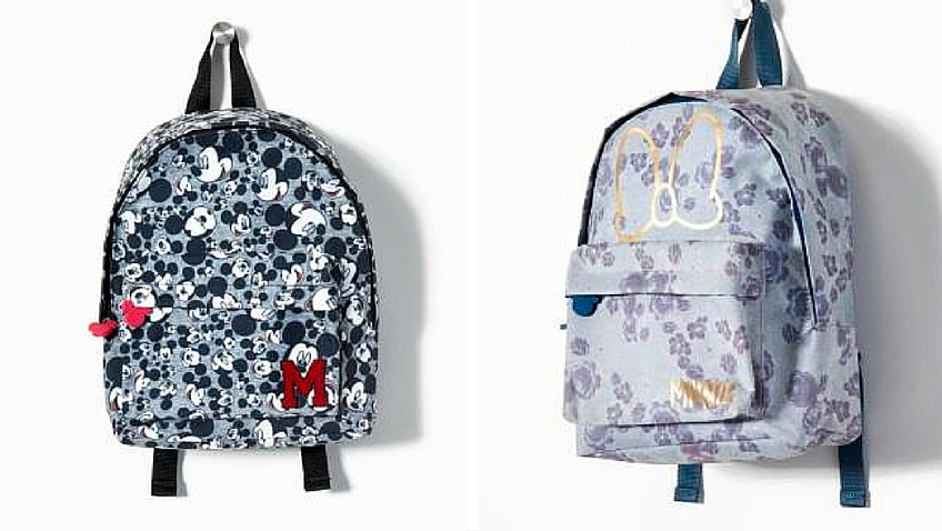 Mochilas escolares de Mickey y Minnie