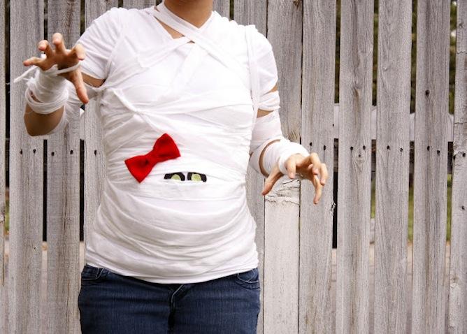 Disfraces halloween embarazadas momia