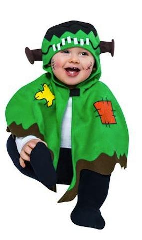 disfraz bebé de halloween frankenstein