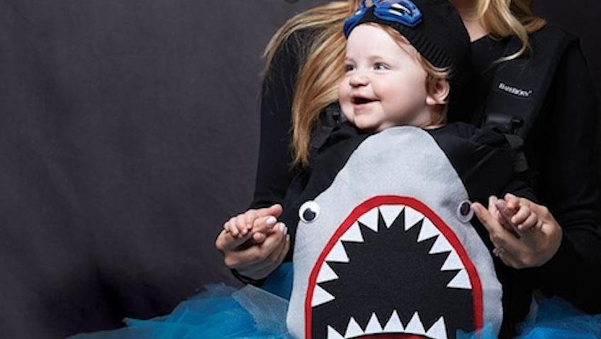 disfraz bebe tiburon halloween