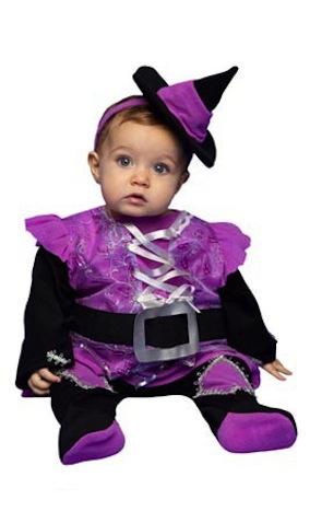 disfraz halloween para bebe brujita violeta