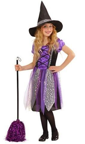 Dsfraz infantil de bruja violeta para nina