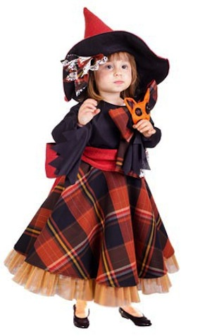 Disfraz infantil para halloween de Brujita