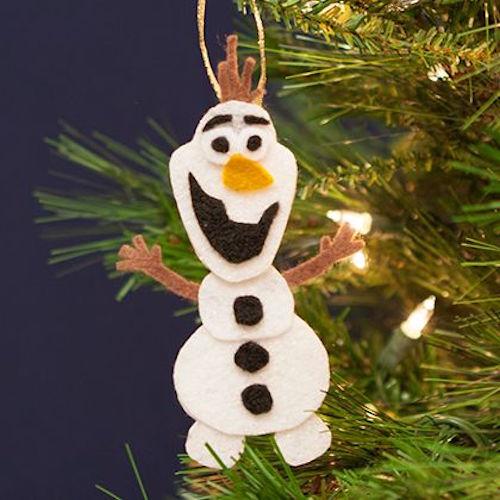 Adornos navideños de frozen DIY Olaf