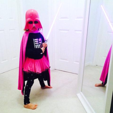 disfraz infantil Darth Vader para niña