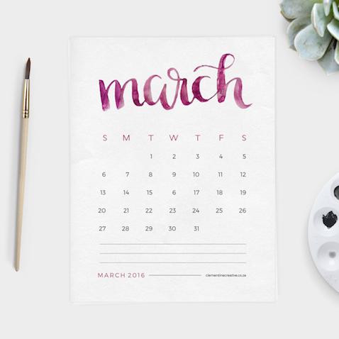 calendario mensual para imprimir