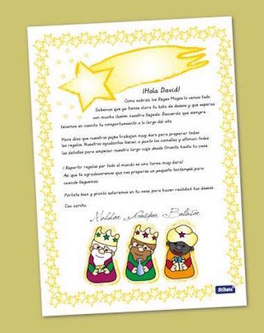 Carta personalizada de Reyes Magos de Stikets, descarga gratis