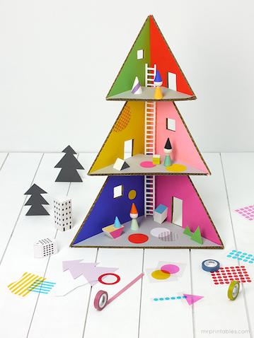 Casa muñecas para Navidad DIY