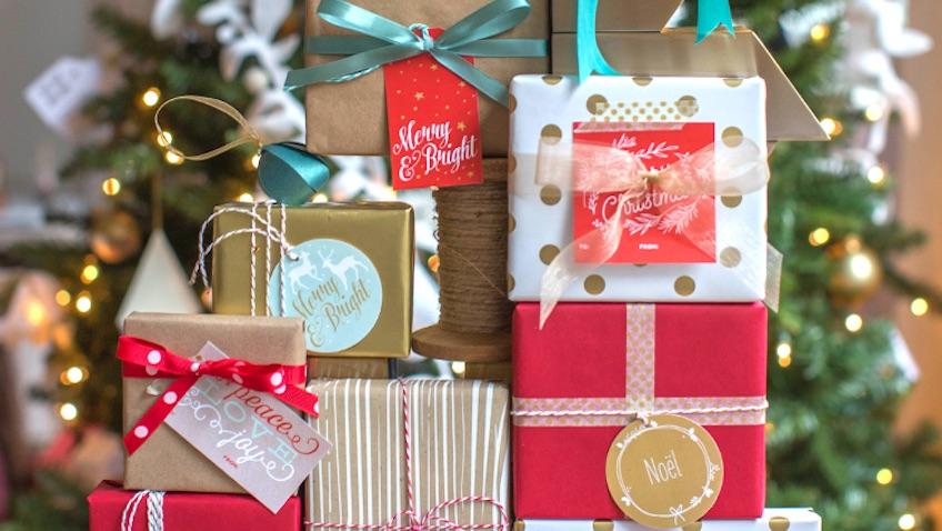 etiquetas para regalos de Navidad para descargar