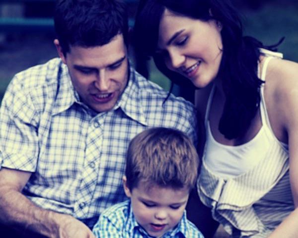 papá, mamá e hijo