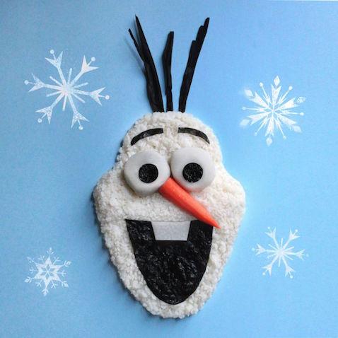 Olaf Frozen hecho con arroz y algas