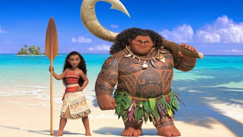Vaiana con Maui