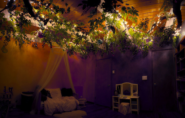habitación infantil bosque encantado