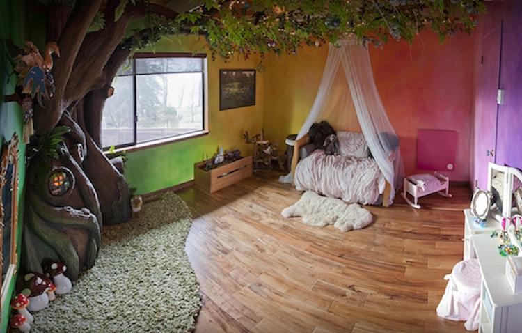 habitación infantil bosque