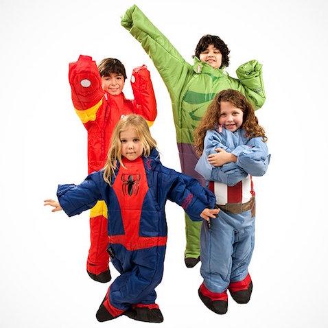 Sacos de dormir para niños de superhéroes de Marvel