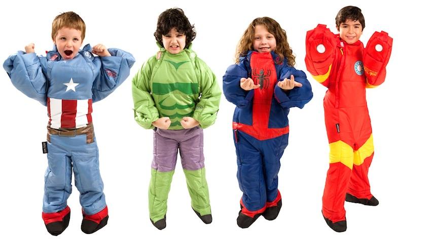 sacos de dormir para niños de superheroes