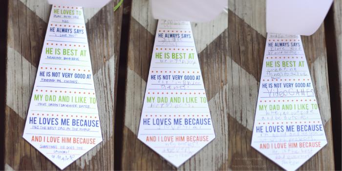 Dia del padre tarjeta imprimir gratis corbata