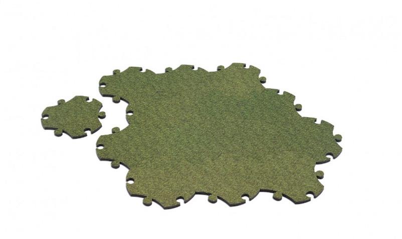 alfombra infantil puzzle verde