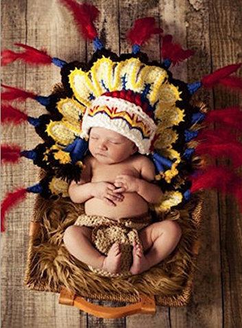 disfraz bebe indio