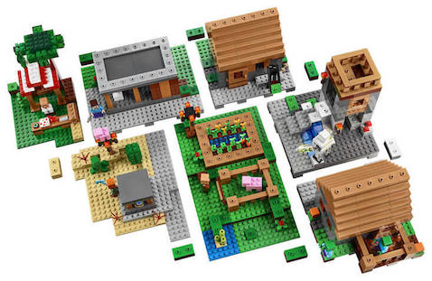 Set Lego Minecraft La Aldea