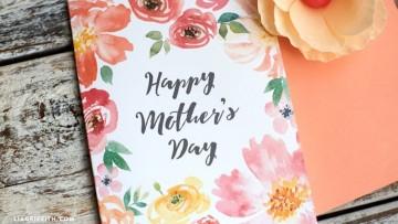 3 tarjetas para el Día de la Madre para sólo descargar e imprimir