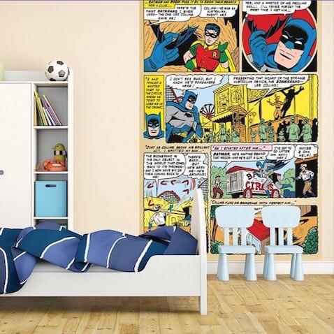 decoraci n superh roes dc comics para habitaciones On decoracion habitacion infantil superheroes