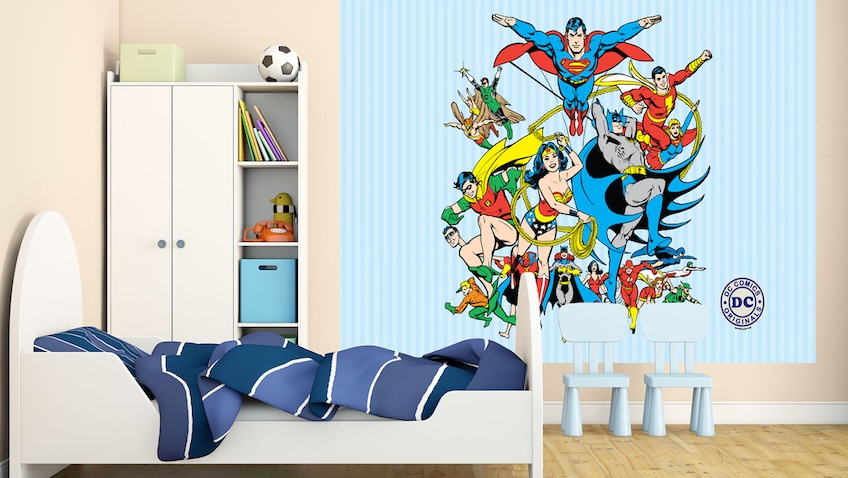 Decoraci n superh roes dc comics para habitaciones for Dormitorio super heroes