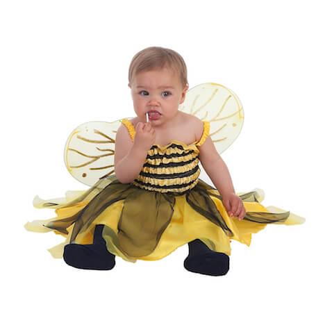 disfraz bebé abeja con alas
