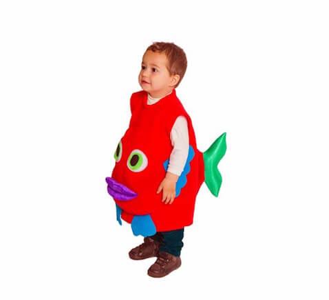disfraz bebé pez rojo