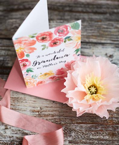 tarjeta dia de la madre abuela para imprimir