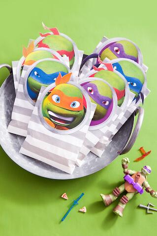 Bolsas de chuches de Las Tortugas Ninja para imprimir