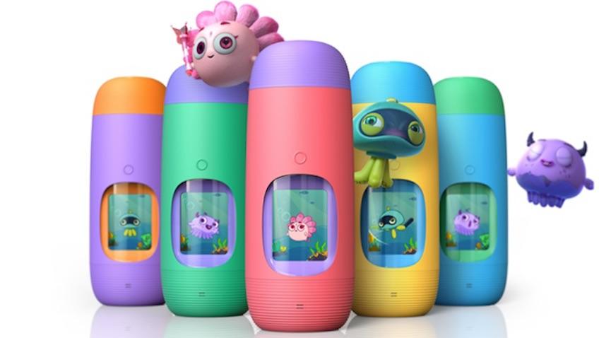 botella de agua para niños interactiva con mascotas