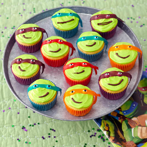 Cupcakes de Las Tortugas Ninja