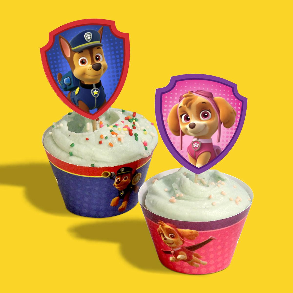 cupcakes de la Patrulla Canina