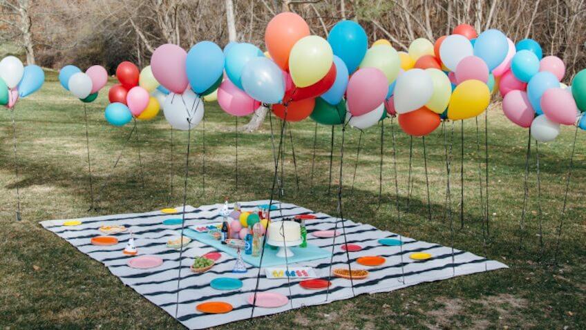 Decoración Baby Shower con globos