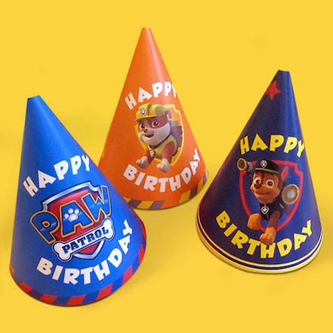 Sombreros de fiesta de la Patrulla Canina para imprimir DIY