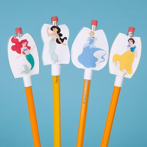 Decorar lápices Disney Princess