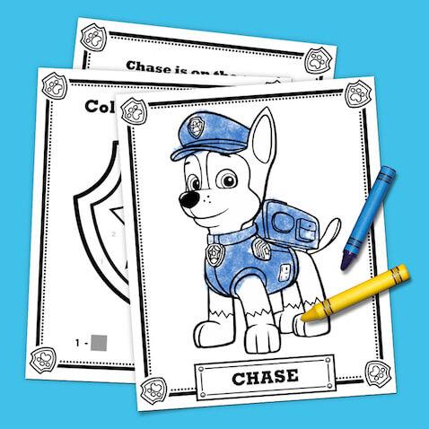 Páginas para colorear de la Patrulla Canina