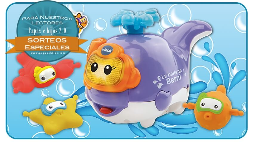 sorteo ballena berni juguete baño educativo