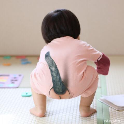 Body para bebé con cola de gato