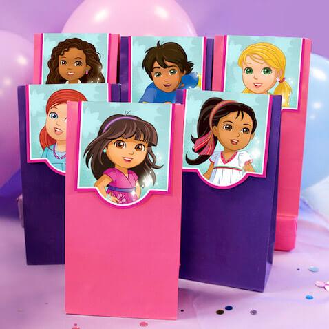 Bolsas de chuches de Dora La Exploradora y amigos