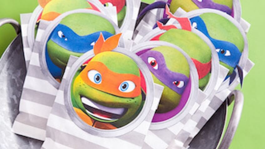 bolsas chuches para imprimir de las tortugas ninja