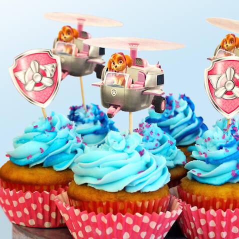 Decoración para cupcakes de Skye de la Patrulla Canina