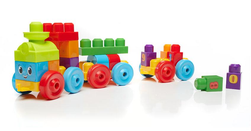 Tren 1-2-3 de Mega Bloks