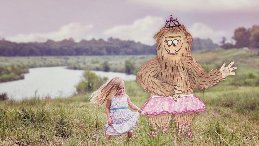 amigo imaginario niña bailando