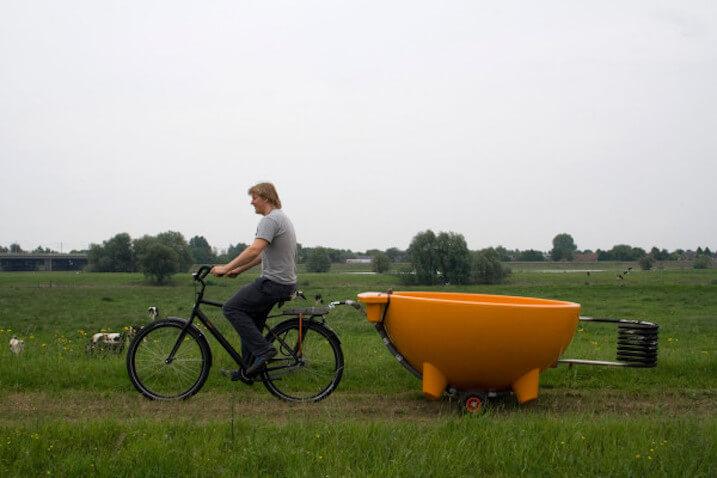 bañera fácil de transportar
