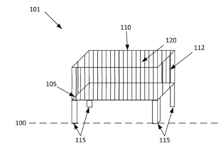 Diseño de cuna inteligente patentada por Google