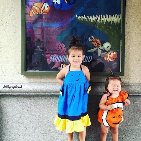 Disfraz caseros Dory y Nemo